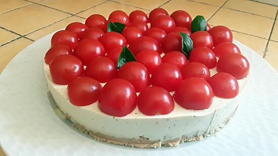 recette Cheesecake au pesto et tomates cerises au thermomix