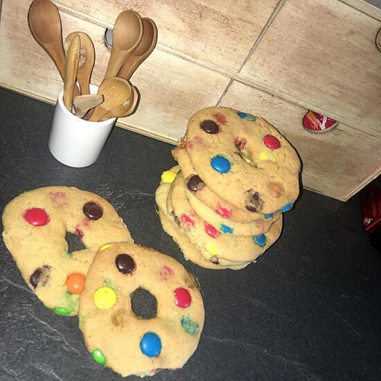 recette Cookies Donuts aux Smarties