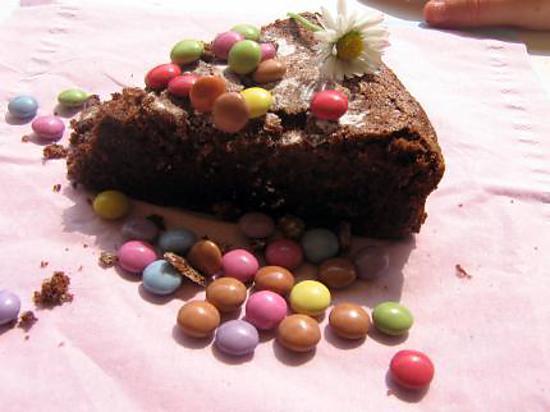 recette fondant chocolat smarties