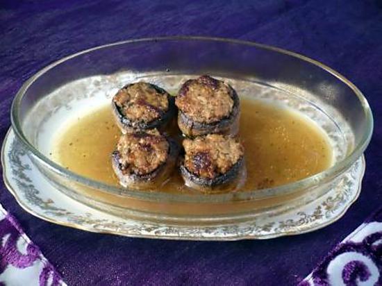 recette Champignons farcis au jambon