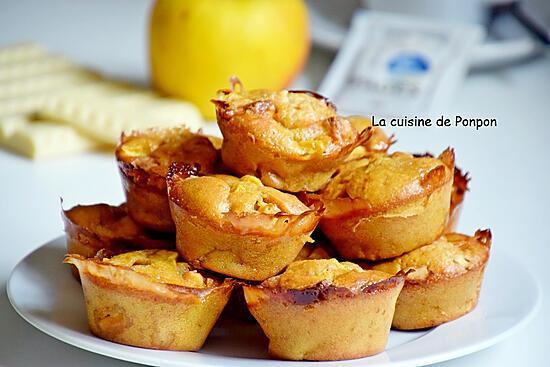 recette Muffin aux pommes et chocolat blanc