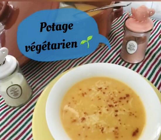 recette Potage de potiron