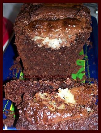 recette cake chocolat, noix de coco, et bounty