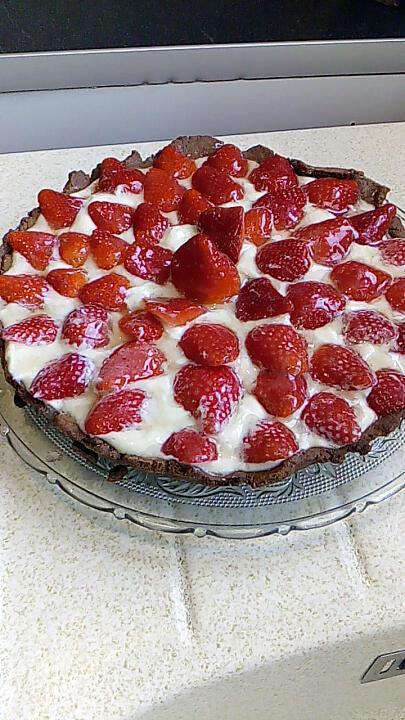 recette tarte aux fraises crème ricotta