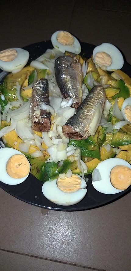 recette Avocat aux oeufs et sardines
