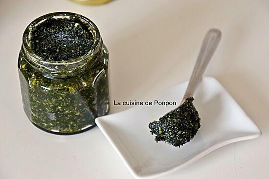 recette Pesto aux orties, végétarien
