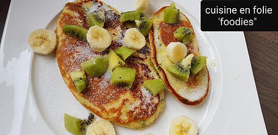 recette Blinis aux orties,  kiwi banane