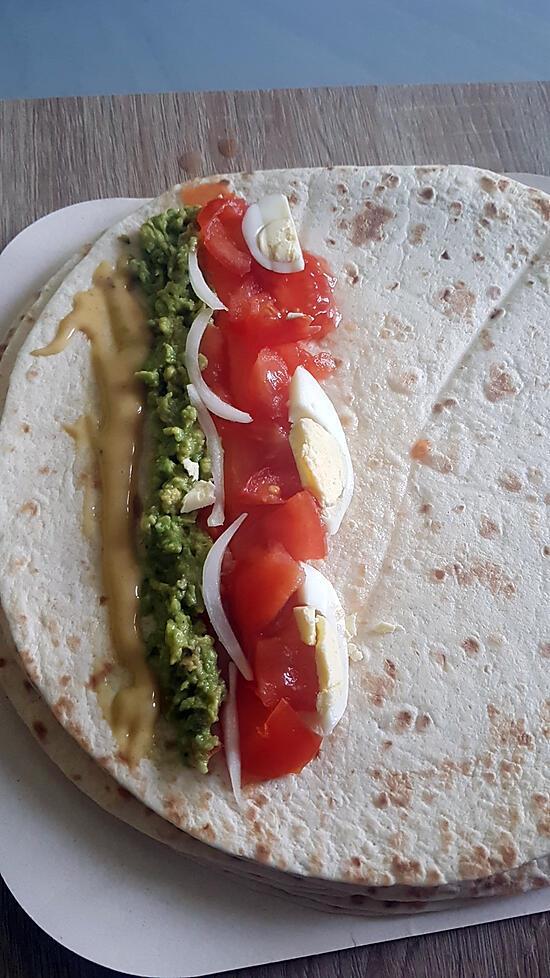 recette Wrap saumon guacamole