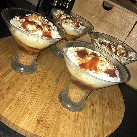 recette Verrines gourmande au pommes et au caramel beurre salé