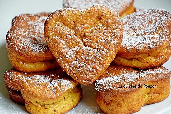 recette Muffin mangue, noisette et son coeur caramel au beurre salé
