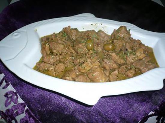 recette Tajine d'agneau aux olives