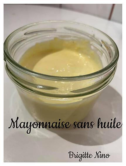 recette MAYONNAISE SANS HUILE