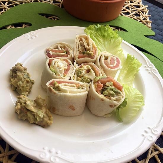 recette Roulés wrap au guacamole