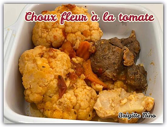 recette CHOUX FLEUR A LA TOMATE