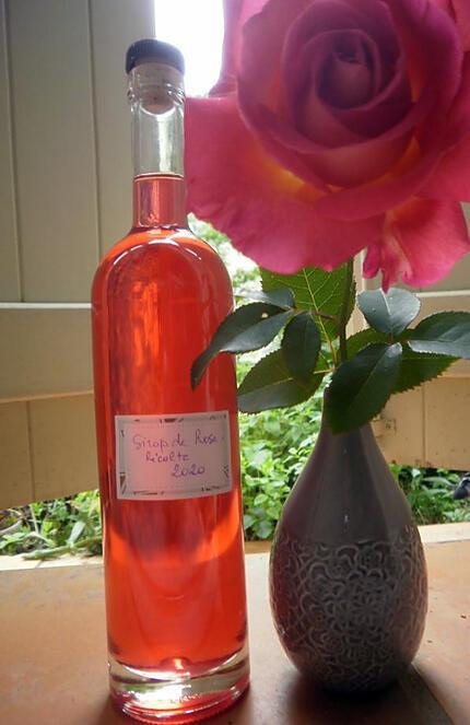 recette Sirop de rose du jardin