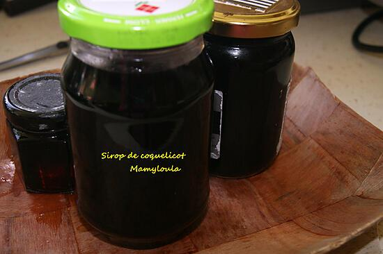 recette Sirop de coquelicot