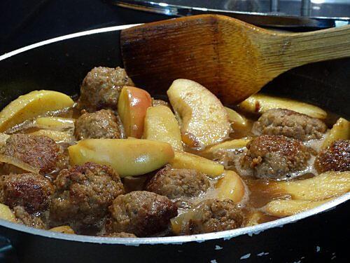 recette Boulettes de Veau aux Pommes et Sirop de Liège