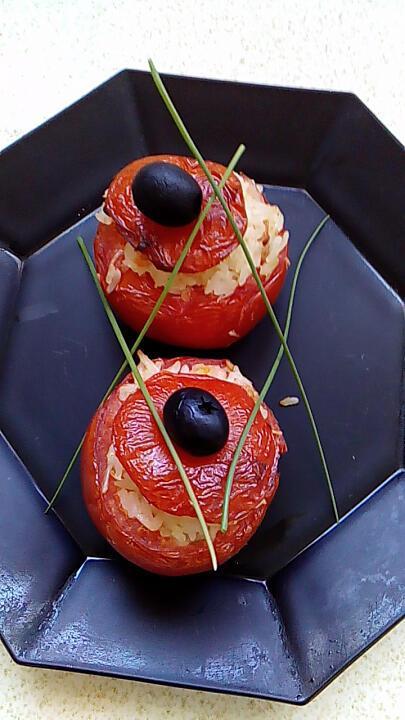 recette tomates farçies riz bacon fromage