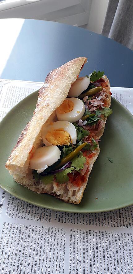 recette Sandwich type tunisien sur le pouce