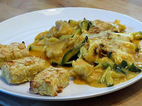 recette Gratin de Poisson aux Courgettes,  Béchamel au Curcuma - Paprika
