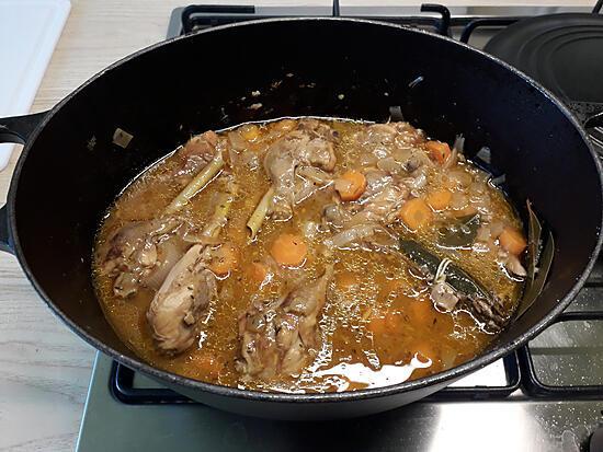 recette Fricassée de poulet au vieux rhum