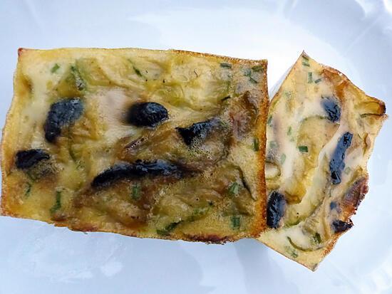 recette Terrine de courgette à l ail noir