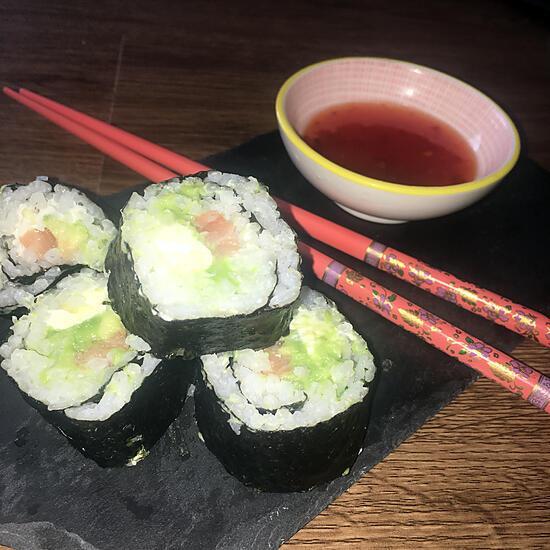 recette Makis saumon cru