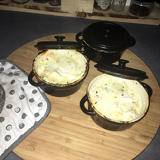 recette Cassolettes de saumon