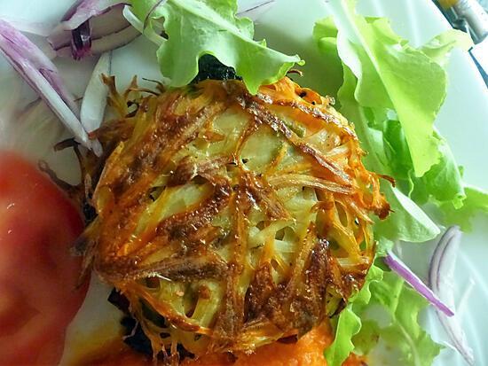 recette Burgers de pommes de terre au boudin noir