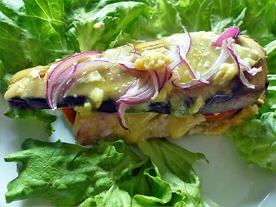 recette Burger d' aubergine au cabillaud