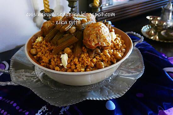 recette Chakhchoukha sauce rouge aux cardons ( kourchef )