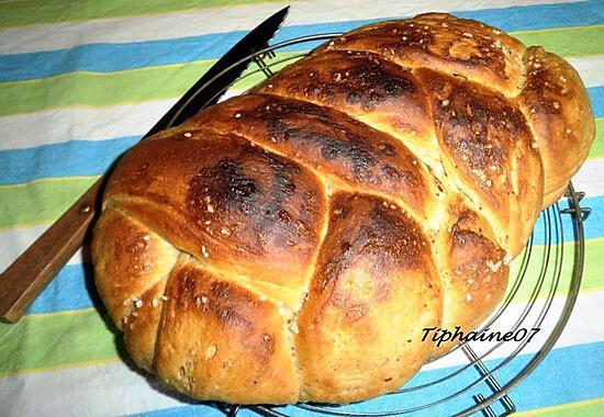 recette Pain brioché anis au levain et farine complète