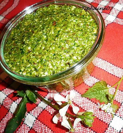 recette Pesto roquette-alliaire
