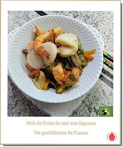 recette Wok de fruits de mer et légumes à la thaïlandaise