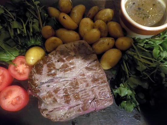 recette Roti de boeuf pommes de terre grenaille et cresson