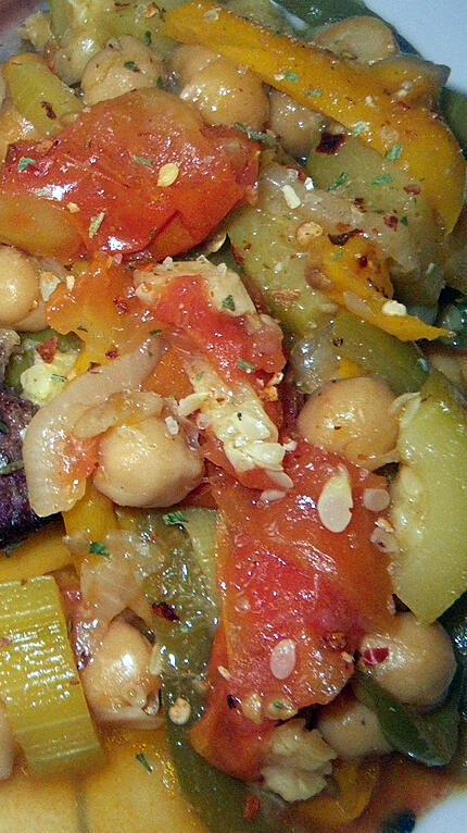 recette Courgettes aux pois chiches