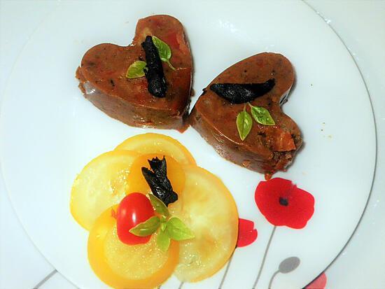 recette Bavarois de tomates à l ail noir