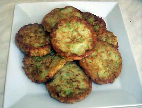 recette Croustillants de courgettes et de pommes de terre