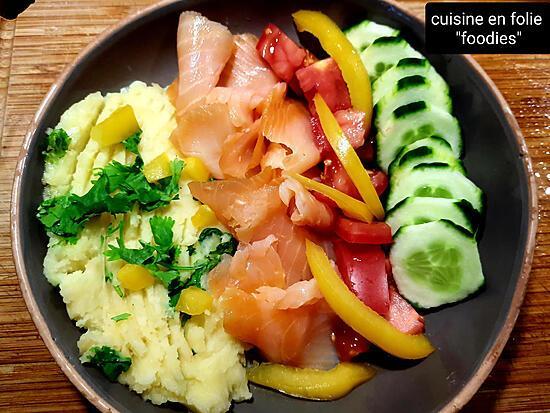 recette Skordalia en assiette complète,  une assiette saine et express!..