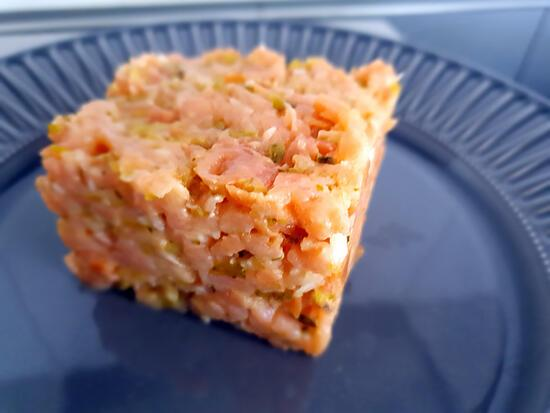 recette Tartare de  saumon fumé &Truite Saumonée Fumée