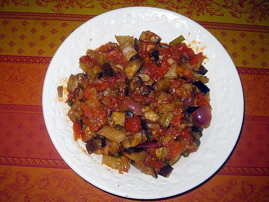 recette La caponata d'aubergines