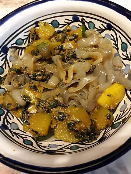 recette Courgettes aux orties caramélisé.