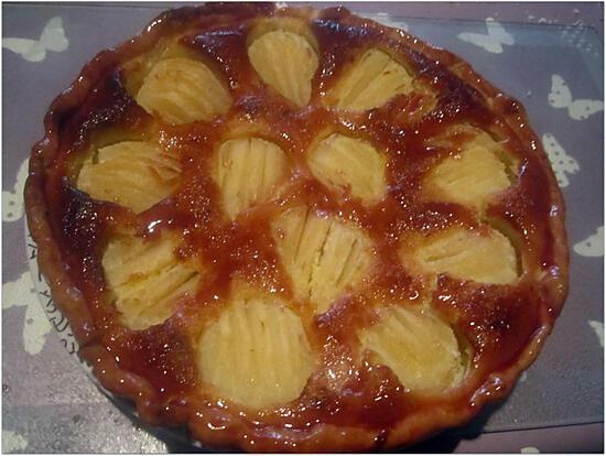 recette Tarte aux poires,crème amandine.