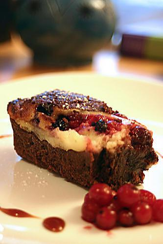 recette de cheesecake brownies aux fruits rouges. Black Bedroom Furniture Sets. Home Design Ideas