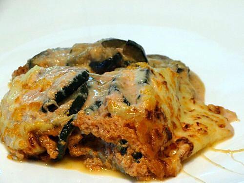 recette Gratin de Courgettes Grillées Sauce Rose