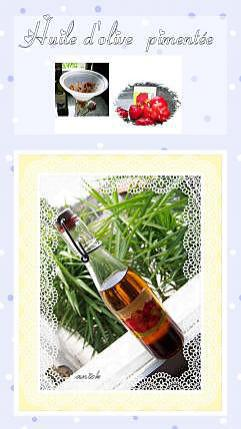 recette purée de piments à l'huile d'olive