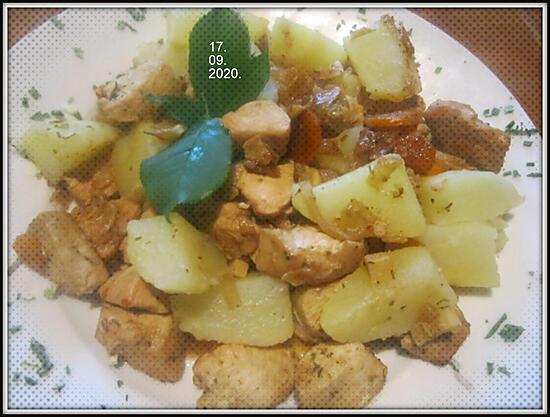 recette Cubes de poulet au curry.