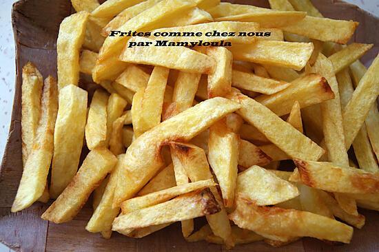 recette Frites comme chez nous