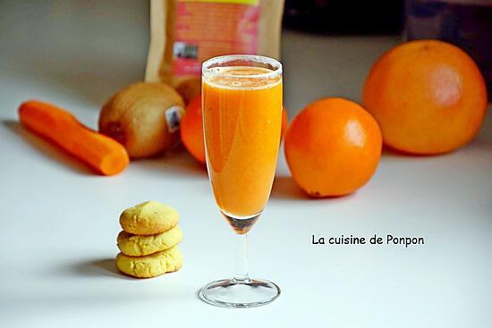 recette Jus d'orange, carotte, kiwi et acérola, vegan