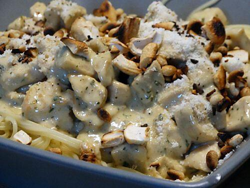 recette Spaghetti au Poulet et Crème de Gorgonzola